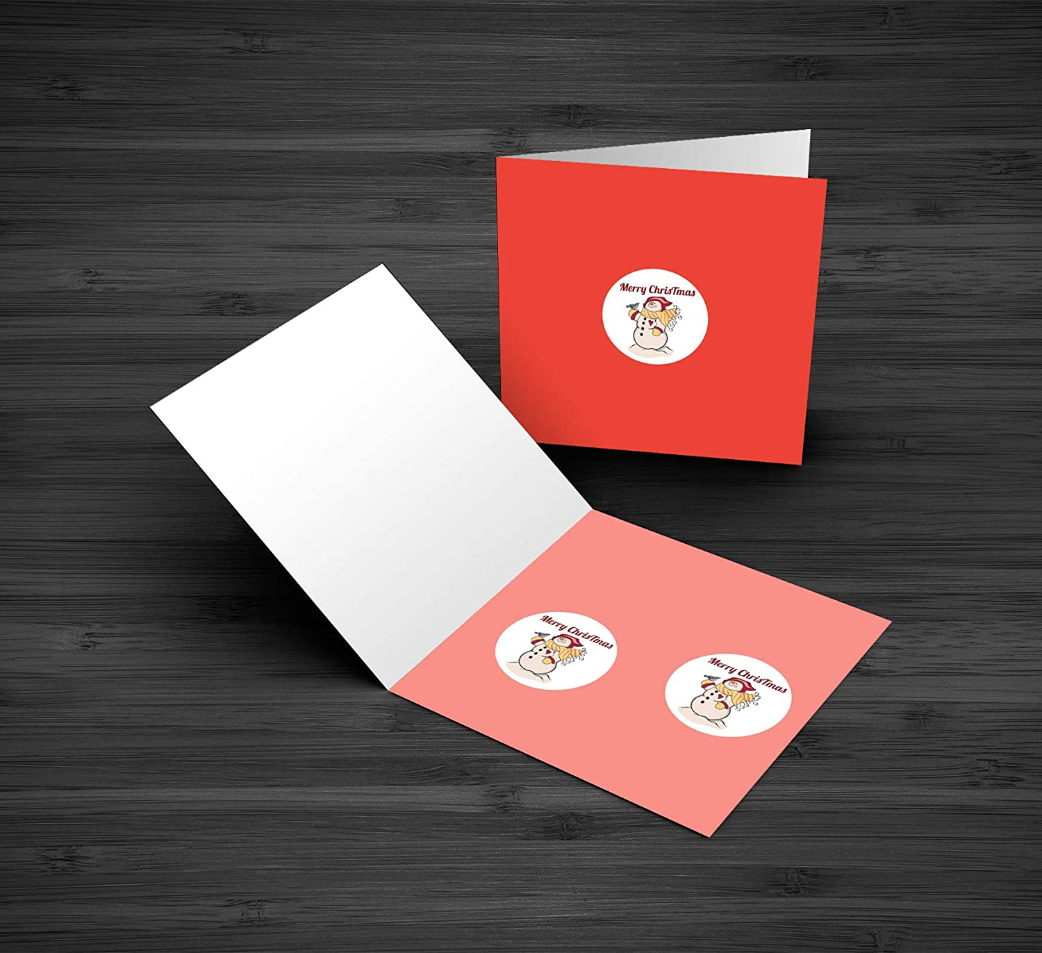 Edward /& Co Set of 40 Sticker Merry Christmas Snowman Decal Small Phone Mini Logo Birthday Parties Envelopes Labels Seals Shower Favor 1.2 inches Each