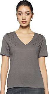 ONLY Women's Plain Regular Fit T-Shirt