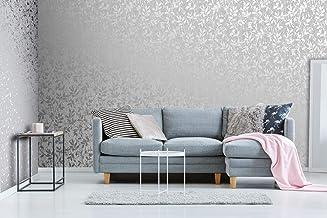 Milan Trail Silver and Grey Wallpaper
