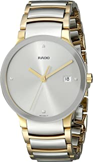 Rado Mens R30931713 Quartz Stainless Steel Silver Dial Watch