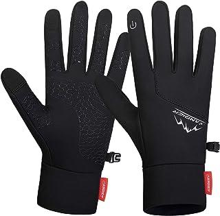 Lapulas Winter Running Gloves, Lightweight Windproof Anti-Slip Touchscreen Warm Liner Sports Gloves (Men & Women)