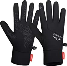 Lapulas Winter Running Gloves, Lightweight Windproof Anti-Slip Touchscreen Warm Liner Sports Gloves (Men & Women)