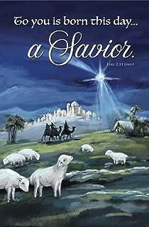 Seasonal Christmas Bulletin - A Savior- Christmas - Church Bulletin 11 in. - (Package of 100)