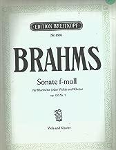 Brahms Sonata F minor op.120 No.1 Viola & Piano Edition Breitkopf Nr. 6916