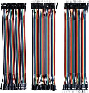 Elegoo 120 st Flerfärgad Duplex Kabel 40 Stift Hane till Hona, 40 Stift Hane till Hane, 40 Stift Hona till Hona Breadboard...