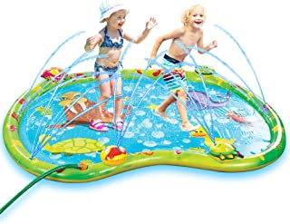 Bundaloo Baby Splash Pad for Toddlers - Inflatable Mat with Sprinklers, Attaches to Most Garden Hoses - Summer Fun Outdoor Kiddie Wading Pool