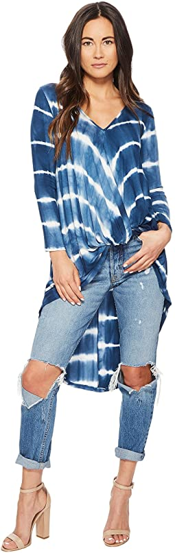 Sophie Long Sleeve Tie-Dye Twisted Front Top