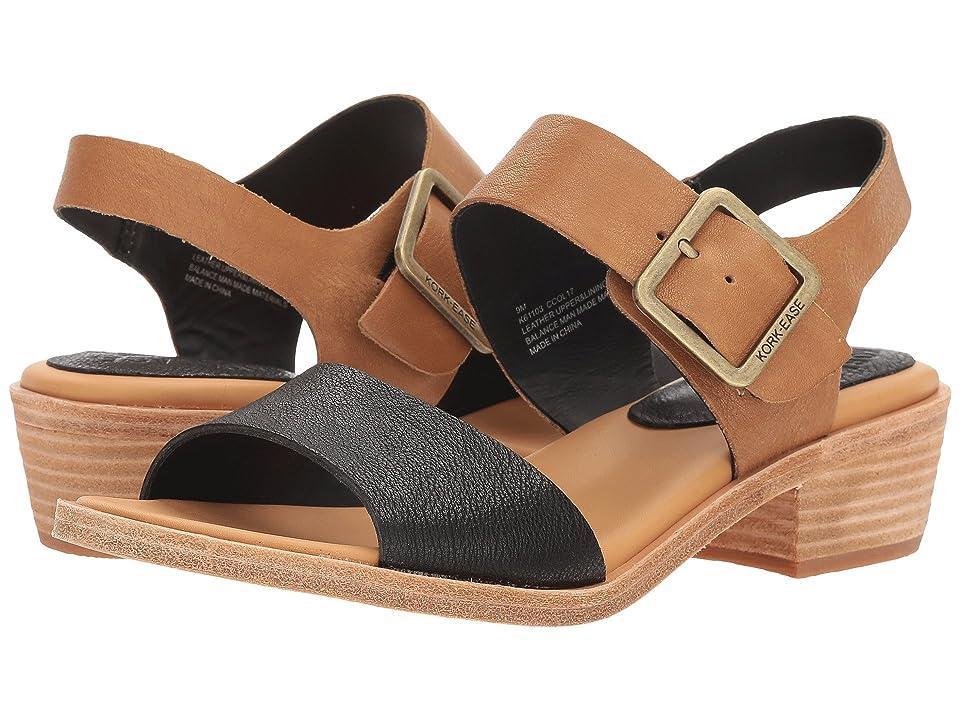 Kork-Ease Myakka (Black/Light Brown Full Grain Leather Combo) Women