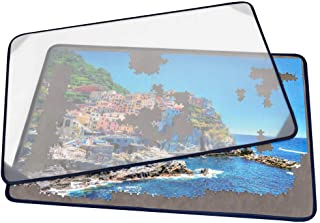 Tektalk Jigsaw Puzzle Board Portable Puzzle Mat with Puzzle Dustproof Cover for Puzzle Storage Puzzle Saver, Non-Slip Surf...
