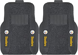 """FANMATS - 13786 NFL Pittsburgh Steelers Nylon Face Deluxe Car Mat 20""""x27"""""""