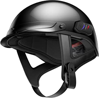Sena Technologies Unisex Adult Cavalry Bluetooth Gloss Black Half Helmet Cavalry-CL-GB-L