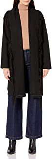 Calvin Klein womens Wool Fringe Jacket