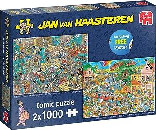 Jan van Haasteren De Muziekwinkel & Vakantiekriebels - 2x 1000 stukjes - Legpuzzel voor Volwassenen