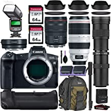 Canon EOS R Mirrorless Digital Camera w/Canon RF 24-105mm is USM, Canon 100-400mm is II USM & Commander 420-800mm Telephoto Lens + Accessory Kit (Canon Mount Adapter w/Backpack, 2X 64gb SD & More)