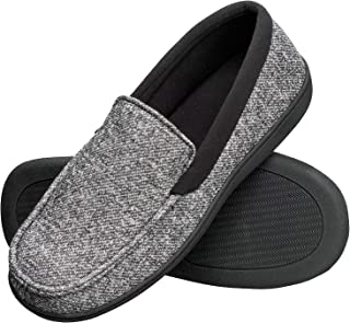 85fb55c99 Hanes Men s Slippers House Shoes Moccasin Comfort Memory Foam Indoor  Outdoor Fresh IQ