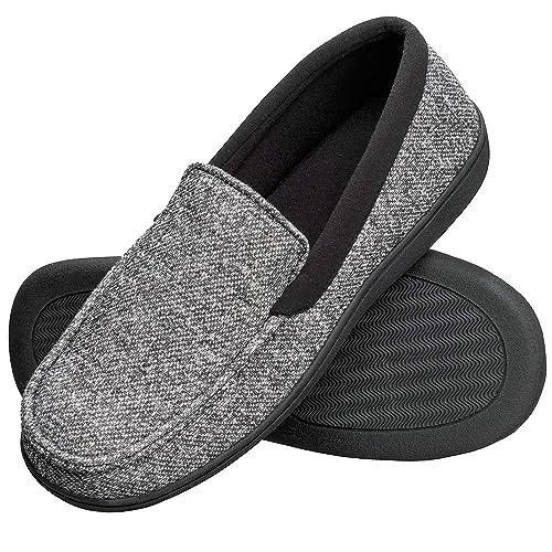 88c768d1e34 Hanes Men s Slippers House Shoes Moccasin Comfort Memory Foam Indoor  Outdoor Fresh IQ