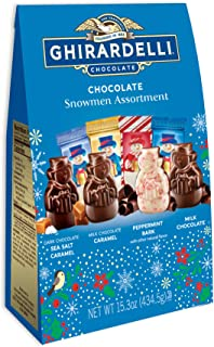 Ghirardelli Premium Chocolate Snowmen Assortment, Holiday Candy Christmas Gift, 15.3 Ounce