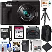 Panasonic Lumix DC-ZS80 4K Wi-Fi Digital Camera (Black) with 64GB Card + Battery + Charger + Case + Flash + Tripod + Kit