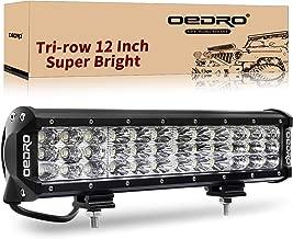 oEdRo LED Light Bar Tri-Rows 120W 12Inch LED Light Pod Spot Flood Combo Light Off Road Lights Led Fog Light Driving Lights Boat Lighting Fit for Truck Pickup Jeep SUV ATV UTV, 3 Years Warranty