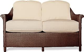Lloyd Flanders 46350-070-903 Crofton Collection Love Seat in Chocolate Loom Finish, Dupione Papaya