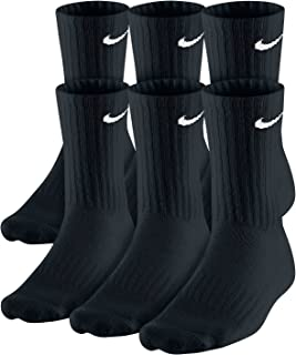 Nike Dri-Fit Classic Cushioned Crew Socks 6 Pair Black...