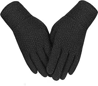 دستکش زمستانی Evob دستکش گرم و گرمی بافتنی و لمسی پشمی آلپاکا