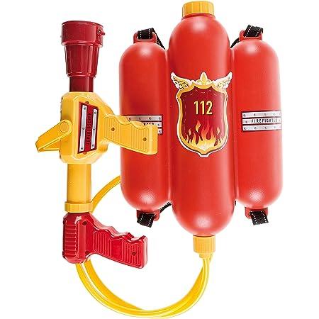 Theo Klein 8932 Fire Fighter Henry Feuerwehrspritze I Mit Wasserspritzfunktion Und 2 Liter Tank I Tragbar Wie Ein Rucksack I Maße 31 Cm X 21 Cm X 9 Cm I Spielzeug Für Kinder Ab