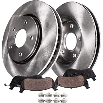 OE Replacement Rotors w//Metallic Pads F+R See Desc. 2011 Fit Dodge Avenger