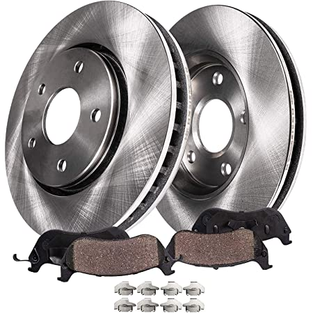 Max Brakes Premium OE Rotors with Carbon Ceramic Pads KT045341 Front