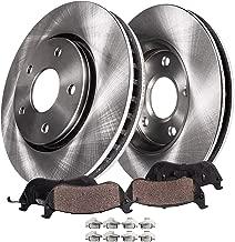 Detroit Axle - Front Disc Replacement Brake Kit Rotors Ceramic Pads w/Hardware for 2003 2004 2005 2006 2007 2008 Pontiac Vibe/Toyota Corolla/Matrix