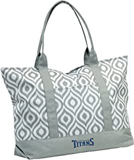 Logo Brands NFL Ikat Zippered Tote with Front Pocket