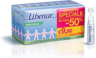 Libenar Physiological Saline Solution, Sterile Isotonic Solution for Cleansing Children's/Infants' Eyes and Nose, 60 Vials...