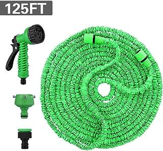 Ovareo 125FT 37.5M Manguera de Jardín, Flexible Mangueras de Jardín Extensible, Manguera Flexible Manguera de Jardín Flexible con Ducha de Mano de Jardín de 8 Funciones Jardín Ducha de Mano