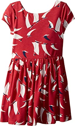 Sailboat Twist-Back Dress (Toddler)