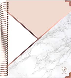 """bloom daily planners 2020-2021 HARDCOVER Academic Year Goal & Vision Planner (July 2020 - July 2021) - Monthly/Weekly Agenda Calendar Organizer - 7.5"""" x 9"""" - Color Blocking Marble"""