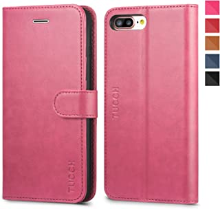 23a0442f9d2 Funda iPhone 8 Plus, TUCCH Funda piel para iPhone 7 Plus,[Garantía de