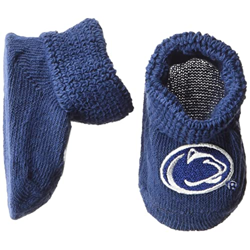 63b23925b Two Feet Ahead NCAA Penn State Nittany Lions Infant Gift Box Booties, One  Size,