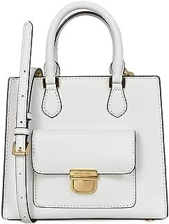 Small Bridgette Messenger Womens Saffiano Leather Bag Optic White
