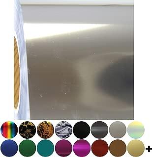 Metallic Foil Silver Heat Transfer Vinyl Film HTV | Two (2) 15