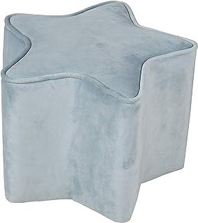 Baumann Roba GmbH Roba Tabouret pour enfant en forme d'étoile – Lil Sofa bleu clair, 24 cm