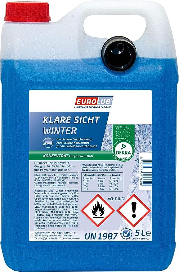 Eurolub Scheibenfrostschutz Klare Sicht Winter Konzentrat 5 Liter Auto