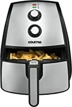 Gourmia GAF560 5 Quart Air Fryer - Oil Free Healthy Cooking - Adjustable Time and Temperature Dials - Removable Dishwasher-Safe Crisper Tray - Free Recipe Book Included
