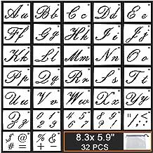 Best large cursive letter stencils Reviews