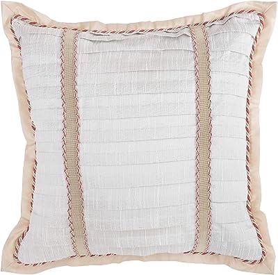 Cross Design Grey Gitika Goyal Home Khadi 20-Quilted Cushion Sham