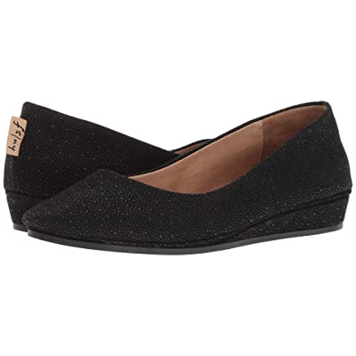 French Sole Zeppa Flat (Black Stingray) Women