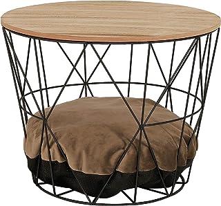 dibea Mesa para gatos mesa lateral mesa con apertura para gatos mesa de centro recta