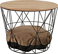 dibea CT00336 Cat/Side Table/Coffee Table/Basket Table with Cat Opening Straight