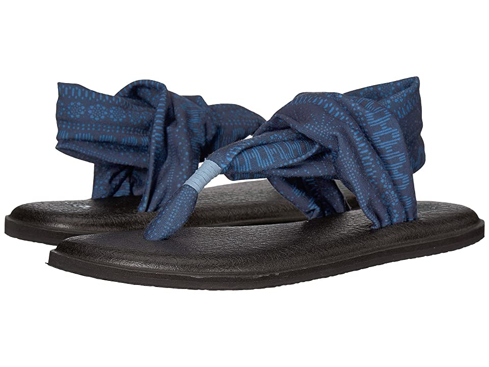 Sanuk Yoga Sling 2 Prints (Blue Heaven Shibori Stripes) Women