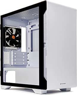 Thermaltake S100 Tempered Glass Snow Edition Micro-ATX Mini-Tower Computer Case with 120mm Rear Fan Pre-Installed CA-1Q9-0...