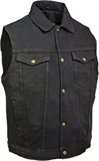 Milwaukee Performance Men's Shirt Collar Denim Vest (Black, Large)